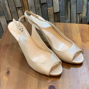 Cole Haan Shoes Slingback Beige Size 10
